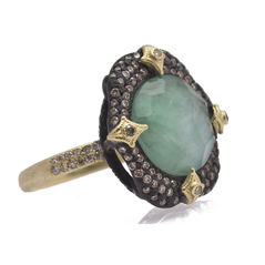 ARMENTA Old World Emerald Triplet Ring