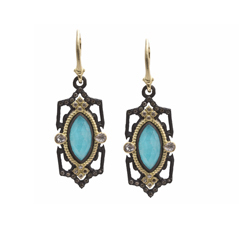 ARMENTA Old World Turquoise Drop Earrings