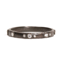 ARMENTA Scattered Diamond Stack Ring