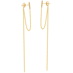 Bar Stud & Chain Earrings
