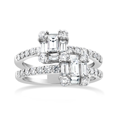Bypass Diamond Fashion Ring