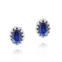 Cabachon Sapphire Earrings