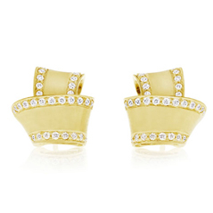 CARELLE Diamond Knot Earrings