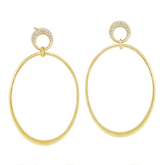 CARELLE Diamond Oval Earrings