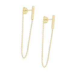 Chain Bar Earrings