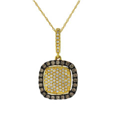 Champagne & White Diamond Pendant