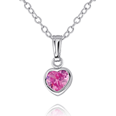 Children's Pink Heart Necklace