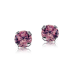 Children's Pink Stud Earrings