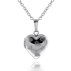Children's Satin Heart Locket