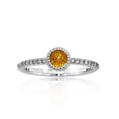 Citrine Stack Ring