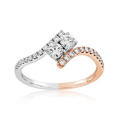 Complete 0.47 Carat Diamond Engagement Ring