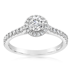 Complete 0.50 Carat Diamond Engagement Ring