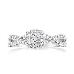 Complete 0.75 Carat Diamond Engagement Ring