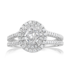 Complete 0.86 Carat Diamond Engagement Ring