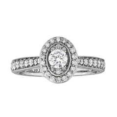Complete 0.90 Carat Diamond Engagement Ring