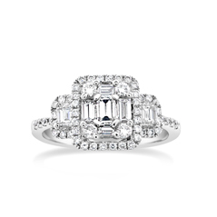 Complete 1 Carat Diamond Engagement Ring