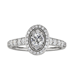 Complete 1.00 Carat Diamond Engagement Ring