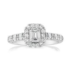 Complete 1.02 Carat Diamond Engagement Ring