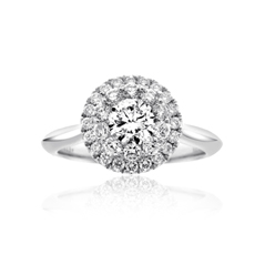 Complete 1.03 Carat Diamond Engagement Ring