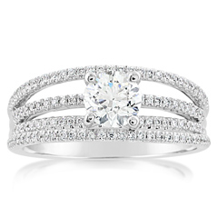 Complete 1.05 Carat Diamond Engagement Ring