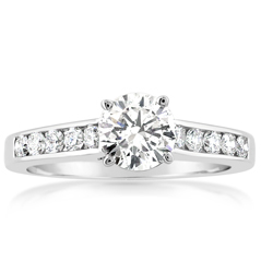 Complete 1.07 Carat Diamond Engagement Ring