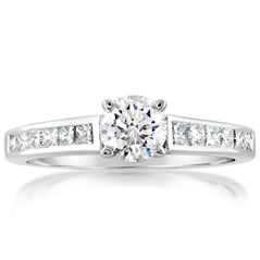 Complete 1.12 Carat Diamond Engagement Ring