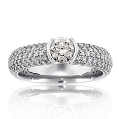 Complete 1.19 Carat Diamond Engagement Ring