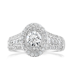 Complete 1.26 Carat Diamond Engagement Ring