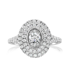 Complete 1.35 Carats Diamond Engagement Ring