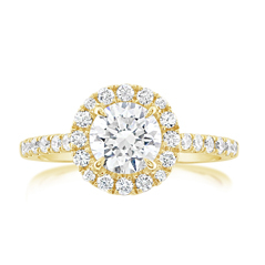Complete 1.41 Carat Diamond Engagement Ring