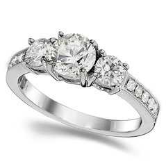 Complete 1.70 Carat Diamond Engagement Ring