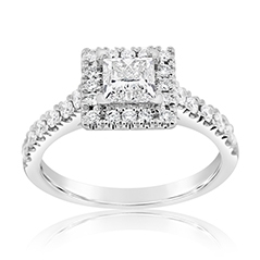 Complete 1.95 Carat Diamond Engagement Ring