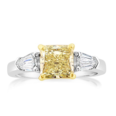 Complete 2.02 Carat Fancy Yellow Diamond Ring