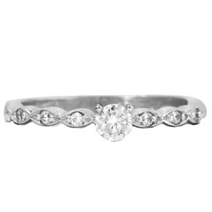 Complete .25 Carat Diamond Engagement Ring