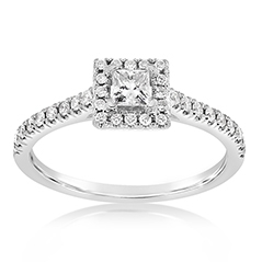 Complete .50 Carat Diamond Engagement Ring