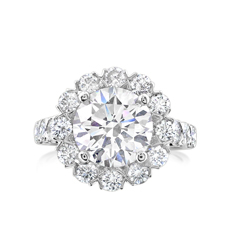 Complete 5.09 Carat Diamond Engagement Ring