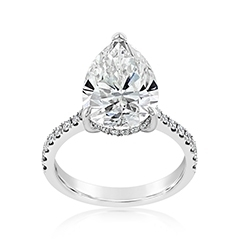 Complete 5.46 Carat Diamond Engagement Ring