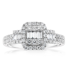 Complete .60 Carat Diamond Engagement Ring