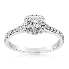 Complete .75 Carat Diamond Engagement Ring