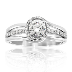 Complete .76 Carat Diamond Engagement Ring