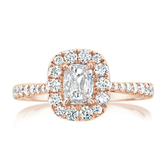 Complete .89 Carat Diamond Engagement Ring