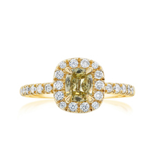 Complete .92 Carat Diamond Engagement Ring