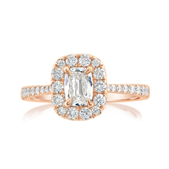 Complete .96 Carat Diamond Engagement Ring