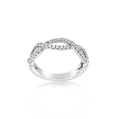Crisscross Diamond Wedding Band