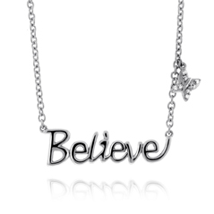 Diamond Butterfly 'Believe' Necklace