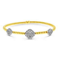 Diamond Cluster Flex Bracelet