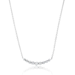 Diamond Curved Bar Necklace