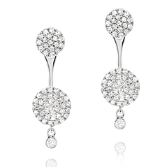 Diamond Earring Jacket Set