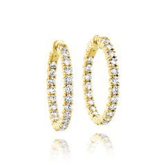 Diamond Inside Out Hoop Earrings
