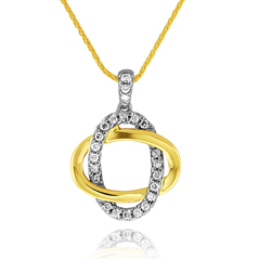 Diamond Interlocking Pendant